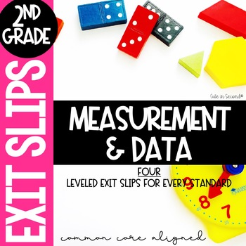 2nd Grade Measurement and Data Exit Slip Assessment Pack Common Core