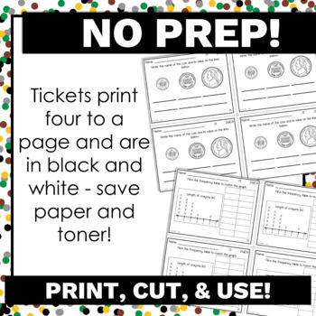 2nd Grade Math Exit Tickets for Every MD Standard