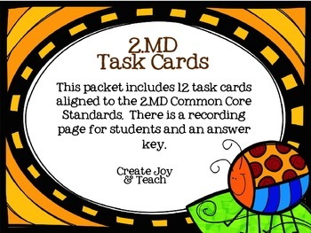 2nd Grade Measurement and Data Task Cards