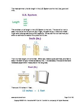 2nd Grade Measurements Lessons, Worksheets, Solution Manuals