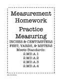 2nd Grade Measuring Homework