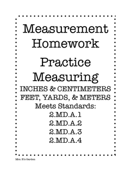 2nd Grade Measuring Homework