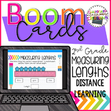 2nd Grade Measuring Lengths Boom Cards Distance Learning