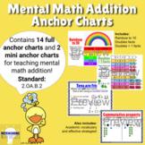 2nd Grade Mental Math Addition Anchor Charts 2.OA.2.B (Dis