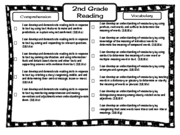 "2nd Grade Missouri Learning Standards ""I can"" Statements & Checklists Bundle"