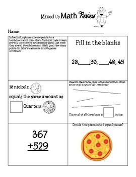 2nd Grade Mixed Up Math Review