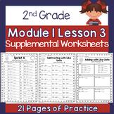 2nd Grade Module 1 Lesson 3 Supplemental Worksheets - Add/