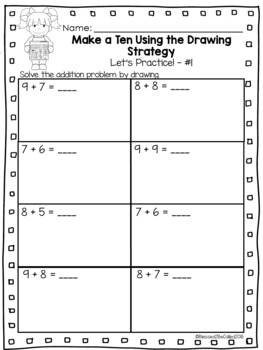 2nd Grade Module 1 Lesson 4 Supplemental Worksheets - Make Ten