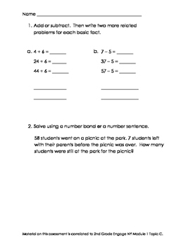 2nd Grade Module 1 Topic C Assessment