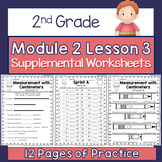 2nd Grade Module 2 Lesson 3 Supplemental Worksheets - Cent