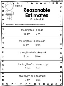 2nd Grade Module 2 Lesson 5 Supplemental Worksheets - Estimate and ...