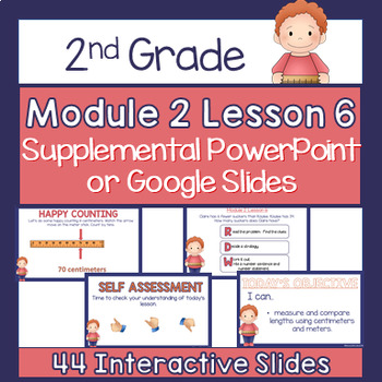 2nd Grade Module 2 Lesson 6 Supplemental Powerpoint - Measure and Comparison