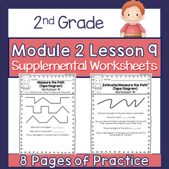 2nd Grade Module 2 Lesson 9 Supplemental Worksheets Measuring Tape Diagrams