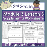 2nd Grade Module 3 Lesson 3 Supplemental Worksheets - Counting from 90 to 1,000
