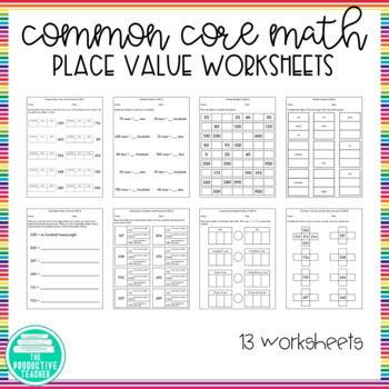 2nd Grade, Module 3, Place Value Worksheets