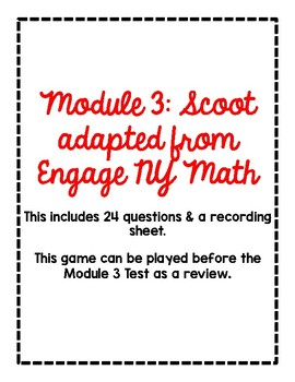 2nd Grade Module 3 Scoot Adapted from Engage NY