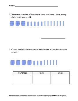 2nd Grade Module 3 Topic C Assessment