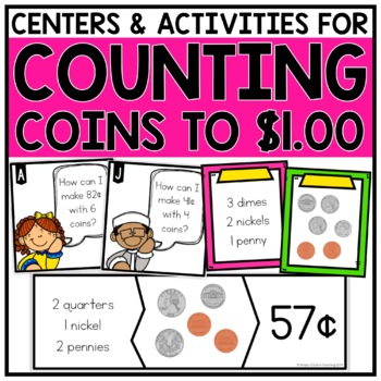 2nd Grade Money & Counting Coins Games & Centers for 2.MD.8