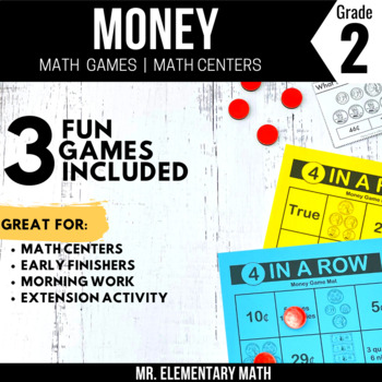 Money Games and Centers 2nd Grade