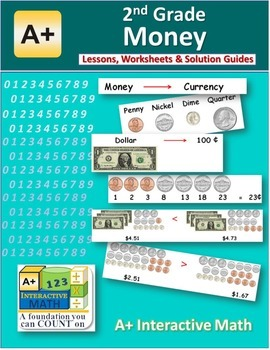 2nd Grade Money Lessons, Worksheets, Solution Manuals
