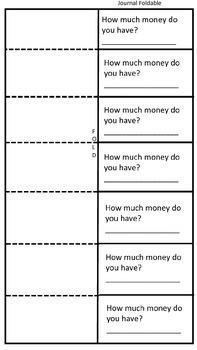 2nd Grade Money Math Foldable, worksheet, Journal Entry, Anchor Activities