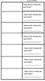 2nd Grade Money Math Foldable, worksheet, Journal Entry, Anchor Activities