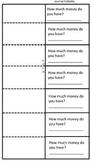 2nd Grade Money Math Foldable, worksheet, Journal Entry, A