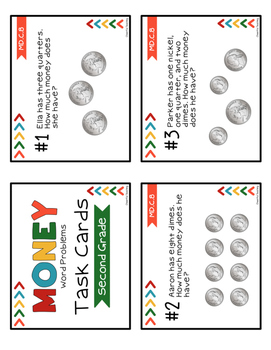 2nd Grade Money Task Cards