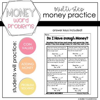 Money Word Problems {2nd Grade}