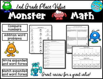 2nd Grade Monster Math Place Value