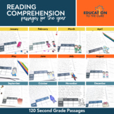 Monthly Fluency Passages 2nd Grade  Reading Comprehension Passages and Questions