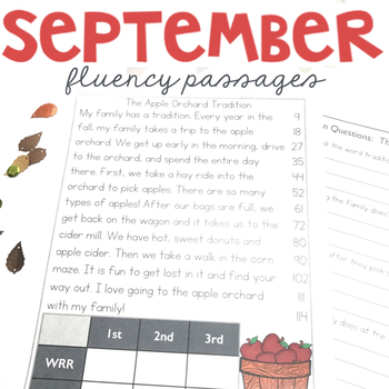 Monthly Fluency Passages 2nd Grade, Reading Comprehension Passages and Questions
