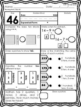 2nd Grade Morning Math 2nd Qtr (October, November, December)