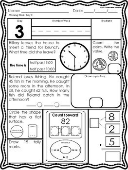 2nd Grade Morning Math Freebie