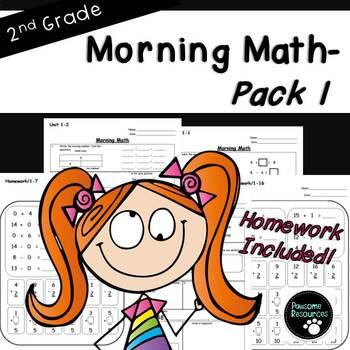 2nd Grade Morning Math-EDITABLE! (Unit 1)