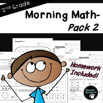 2nd Grade Morning Math-EDITABLE! (Unit 2)