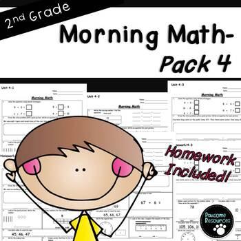 2nd Grade Morning Math (Unit 4)