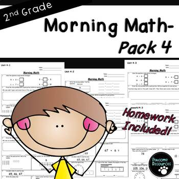 2nd Grade Morning Math-EDITABLE! (Unit 4)