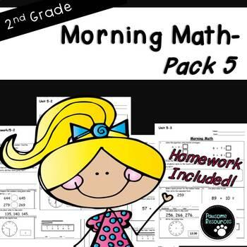 2nd Grade Morning Math-EDITABLE! (Unit 5)