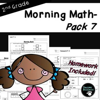2nd Grade Morning Math-EDITABLE! (Unit 7)
