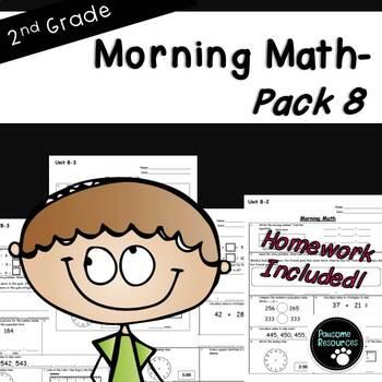 2nd Grade Morning Math-EDITABLE! (Unit 8)