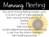 2nd Grade Morning Meeting Slides (Weeks 13-16)