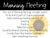 2nd Grade Morning Meetings Weeks 33-36
