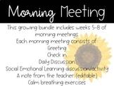 2nd Grade Morning Meetings (Weeks 5-8)