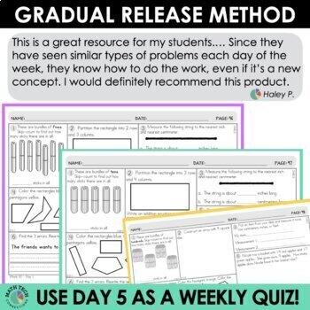 2nd Grade Morning Work Math Review or Homework Bundle
