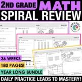 2nd Grade Math Spiral Review | 2nd Grade Math Homework Distance Learning