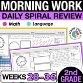 2nd Grade Morning Work - 4th 9 weeks | Google Slides 2nd G