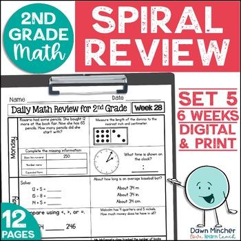 2nd Grade Morning Work   2nd Grade Spiral Math Review   Set 5 (6 weeks)