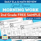 2nd Grade Morning Work Free 2 Week Sample