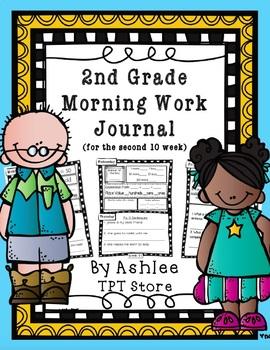 2nd Grade Morning Work Journal Set 2 [second 10 weeks]